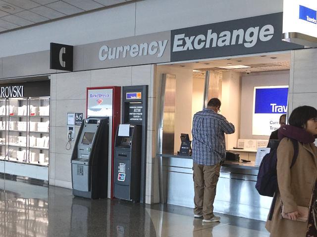 アメリカ・サンフランシスコ空港にあるトラベレックス両替所